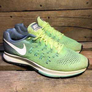 Nike Air Zoom Pegasus 33 Green Running Shoes